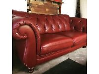 Winchester 3 Seat Chesterfield Chestnut Sofa