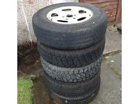 "Land Rover Freelander 1 15"" steel wheels. Set of 5."
