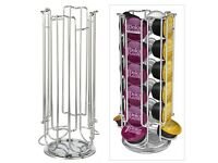 Top Home Solutions Revolving Rotating 24 Capsule Coffee Pod Holder Tower Stand Rack for Dolce Gusto.