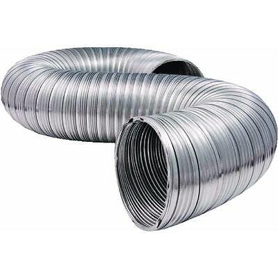 """16 Pk 4"""" X 8' Aluminum Semi-Rigid Flexible UL Clothes Dryer Vent Duct MFX48ULXZW"""