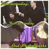 Bottle flipping bartenders/photobooth for your event.