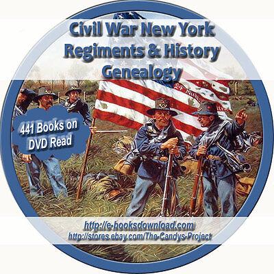 New York Civil War Regiment History Genealogy 441 Collection Rare 3 DVDs