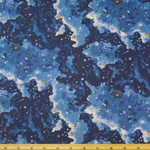 Space odyssey twinkling stars universe galaxy 100 cotton for Space is not fabric