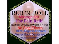 MASSAGE BALL (pain relief) with money back guarantee.