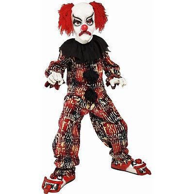 GRUSEL CLOWN KOSTÜM für Kinder- Coulrophobie Killer Mörder Horror böse (Werwolf Kostüm Für Kinder)