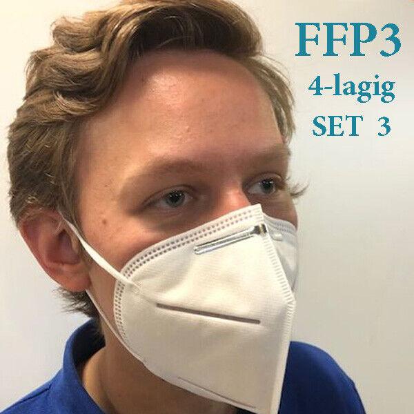 3-er Pack FFP3 Atemschutzmaske Feinstaubmaske Mundschutz Nasenschutz Stück/8,32