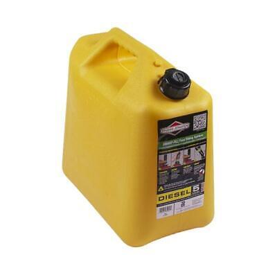 Briggs Stratton 5 Gallon Diesel Can Smart-fill 85056 Yellow