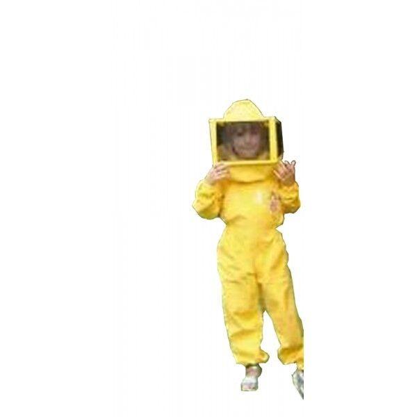 TUTA PER BAMBINI COMPLETA DI MASCHERA QUADRATA - taglia S per apicoltore