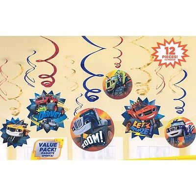 - Blaze and the Monster Machines Party Swirl Decorartions 12 Piece Value Pack