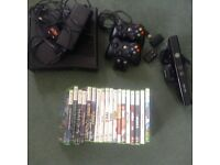 XBOX 360 Package with Games and Kinect