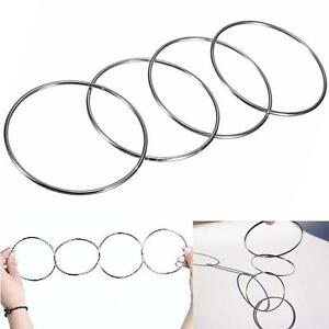 4 Magic Chinese Linking Rings Set Magnetic Lock Kids Party Show Stage Trick