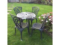 Metal cast Patio garden table & chairs