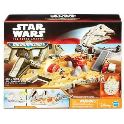 NEW HASBRO STAR WARS MICRO MACHINES MILLENNIUM FALCON PLAYSET TOY B3533