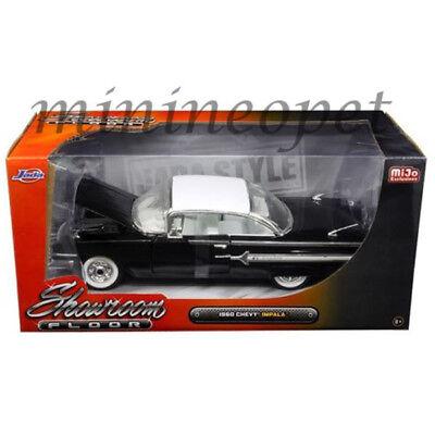 JADA 98901 SHOWROOM FLOOR 1960 CHEVROLET IMPALA 1/24 DIECAST MODEL CAR BLACK Jada Showroom Floor