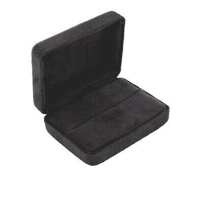 Ring Cufflink Box Wholesale Lot Black Flocked Velour Gift Ring Boxes Set Of 72