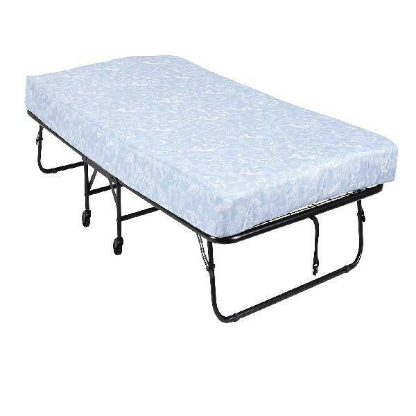 Folding Bed with 5 Inches Mattress Portable and Roll Away Gu