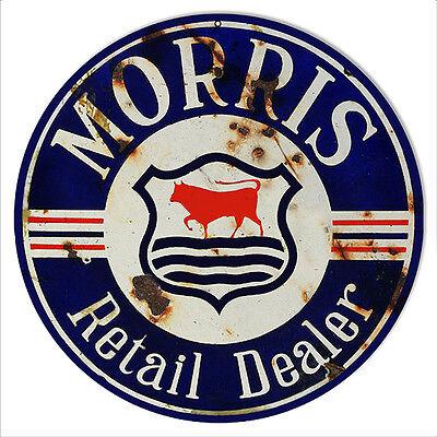 Reproduction Morris Dealer Sign 14 Round