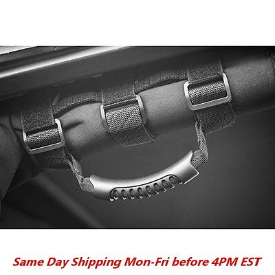 Roll Bar Grab Handle (PAIR) Black for Jeep Wrangler