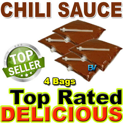 Chili Sauce For Dispenser Machine 106 Oz 4 Bags Gold Medal El Nacho Grande