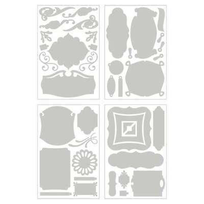- BASIC GREY UNDRESSED Blank Chipboard Shapes PERIPHERY 43 Pcs Die Cut Embellishm