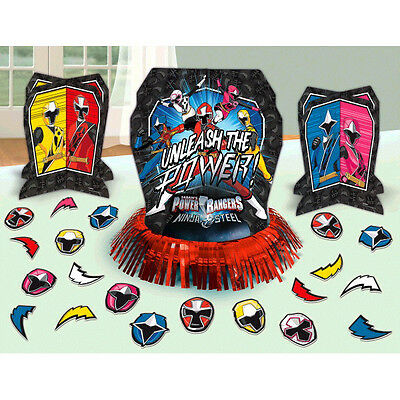 Power Rangers NINJA STEEL Table Decorating Kit Boy Birthday Party Supplies 23pcs - Power Rangers Party Decorations