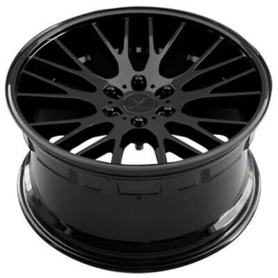"(4) 22"" Verde Wheels V22 Duo Gloss Black Rims (B4)"