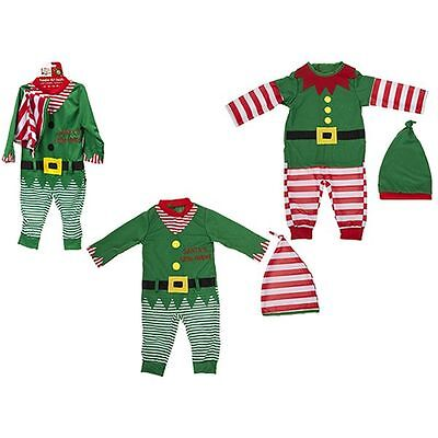 Baby Toddler Christmas Elf Santa Babygrow Playsuit All In One Elf Costume Outfit - Elf Toddler Outfit