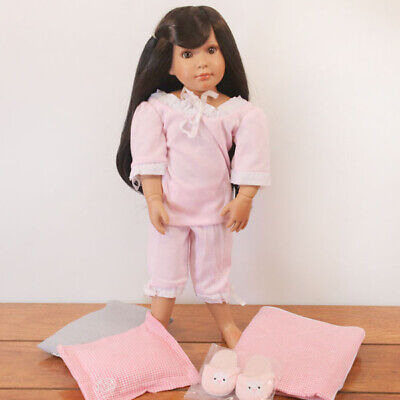 "Roxie, Bedtime Set - 18"" Medium Skin Tone, Vinyl Jointed Doll by Kidz 'n' Cats"