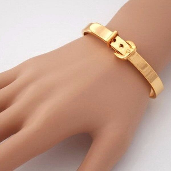 Alloy Stainless Steel Buckle Belt Shape Cuff Bracelet