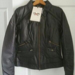 NWT womens Harley Davidson leather riding jacket
