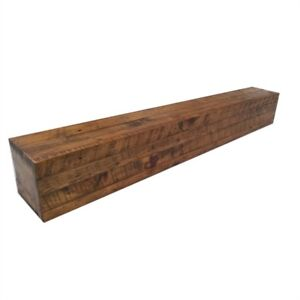 Elements brown fireplace mantel or shelf