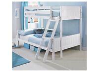 Un opened! Trio solid pine bunk bed (White) w/ Two Mattresses