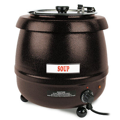 New Commercial 10.5 Quart Brown Electric Soup Kettle Warmer - Free Shipping