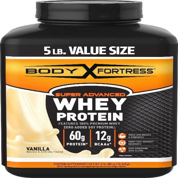 Body Fortress Super Advanced Whey Protein Powder, Vanilla 60