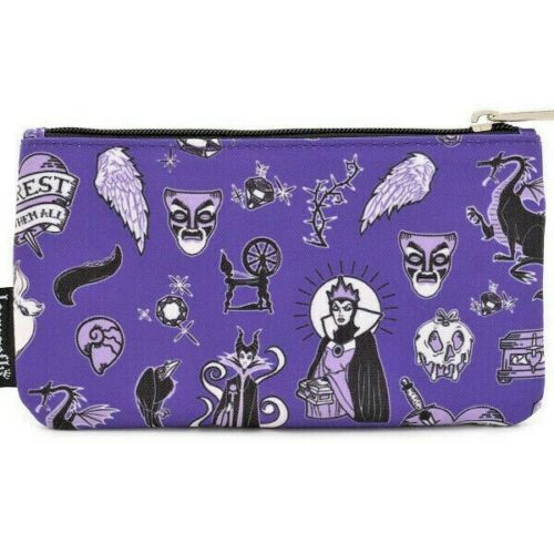 Loungefly DISNEY Villains Maleficent Urusula Cosmetic Art Supplies Coin Pouch