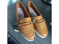 NEXT lady's/girls leather slip on shoes