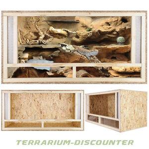 TERRARIUM VON REPITERRA® 120x60x60cm Frontbelüftung Holz Terrarium Holzterrarium
