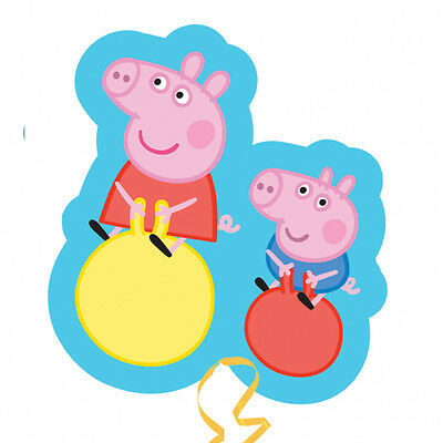 Peppa Pig George Party Bounce Supershape Helium / Air Foil Balloon - George Pig Helium Balloon