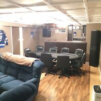 SPACIOUS FULLY FURNISHED BASEMENT FOR RENT IN NORTH END