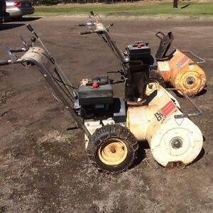 """Two Roper 8hp 26""""cut snowblower and parts machine"""