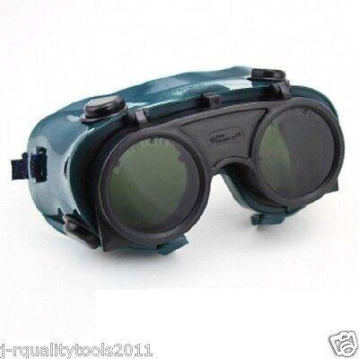 Welders Flip Up Welding Safety Goggles Glasses Eye Face Weld Shield Mig Gas