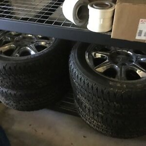 """Gmc 20"""" rims and tires"""
