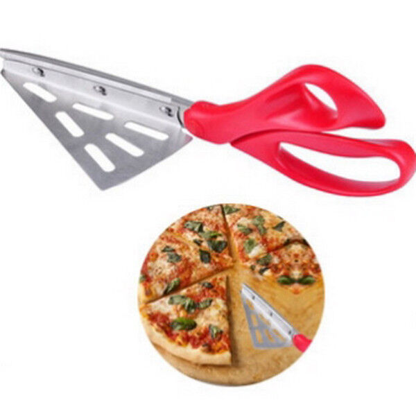 Forbici da cucina per pizza con paletta taglia pizza in acciaio con manico