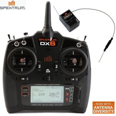 New Spektrum Dx6 6 Channel Dsmx  Transmitter Mode 2 W  Receiver Ar610