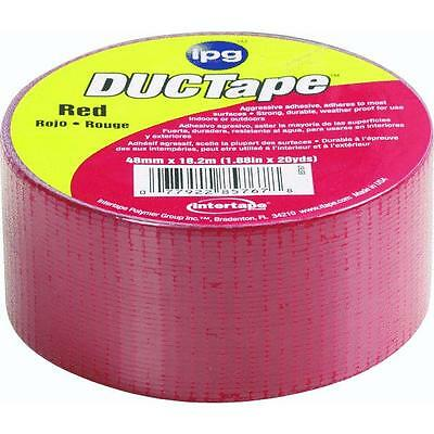 20yds Duct Tape Red Intertape Polymer 6720red All Purpose Use 6 Roll Pack