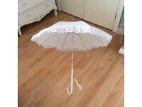 White / Lace Wedding Umbrella