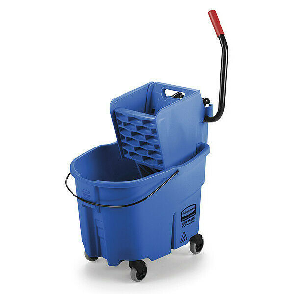 Rubbermaid Fg758888blue Wavebrake Mop Bucket And Wringer,8.75 Gal.,Blue