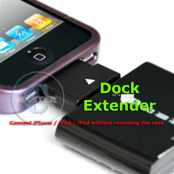 timeless design 931f1 86fe8 Details about 30pin DOCK CHARGE EXTENDER CASE BUMPER ADAPTER FOR IPOD  IPHONE 4s 4 3Gs IPAD 2 3