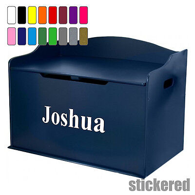 BOYS PERSONALISED NAME TOY BOX VINYL STICKER DECAL FOR CHILD