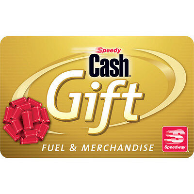 $100 Speedway Gas Physical Gift Card - Standard 1st Class Mail Delivery